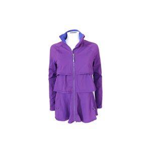 Athleta plum eggplant ruffle jacket